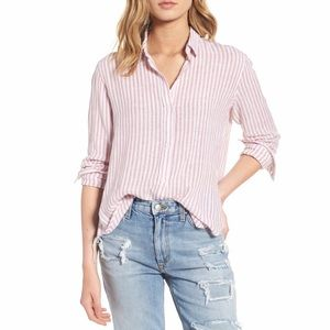 Rails Sydney Florence Stripe Linen Blend Shirt